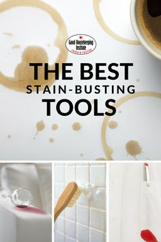 Top stain removing tips and tools to use for removing stains from clothes, carpets, and more