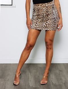 Pop out this summer in this fun suede leopard print mini skirt. This printed skirt is available in a vibrant purple, and cool tan color. Details 92% Polyester, 8% Spandex Mini Skirts, Vibrant, Spandex, Pop, Purple, Printed, Summer, Shopping, Color
