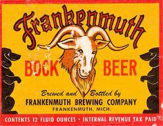 Michigan beer, vintage label