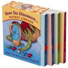 How Do Dinosaurs... Pocket Library: Clean Their Rooms, Play with Their Friends, Learn Their Colors, Count to Ten