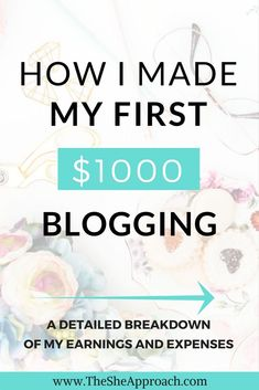 Is making money blogging a dream of yours? Learn how I made my first $1000 blogging, affiliate marketing tips, blog traffic and income report and more advice for new bloggers.
