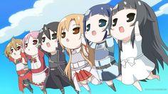 Sword Art Online this is so cute! <3
