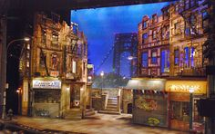 "Set Design of ""In The Heights"" at the Richard Rodgers Theatre T he other night, I caught a performance of the Tony Award winning Broadway. Design Set, Stage Set Design, Set Design Theatre, Dark Fantasy Art, Theatre Stage, Set Theatre, West Side Story, Royal Ballet, Scenic Design"