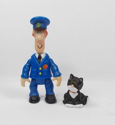 Postman Pat & Jess - Mini Toy Figures - 7 cm & 2 cm Tall