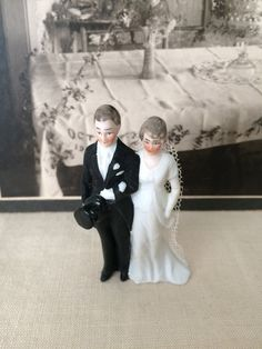 Art Deco 3 Wedding Cake Topper...Bridal by TheButlersCottage