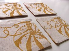 Pumpkin coasters-Set of 4 by fastsoftpress on Etsy