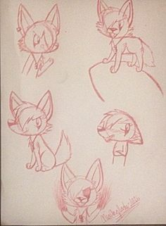 Some pen doodles from my character Eclipse. #artist #coyoteregions #art #pendrawings #comic #redink #creativeniaarts
