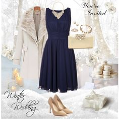 """Winter Wedding Guest Style"" by cherrysnoww on Polyvore"