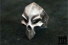 """""""Death God Skull"""" Silver Ring"""