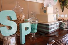 House of Hydrangeas: Elephant 1st Birthday Party - Love the idea of wrapping a box then decorating it for a cake stand.