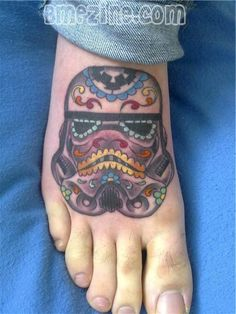 Adrien would really think I was cool if I got something kinda like this! Storm Trooper Sugar Skull