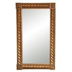 1stdibs | Transitional Gold Rectangular Mirror in Rococo Style