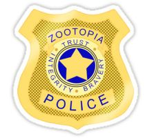 ZPD Zootopia Badge Sticker