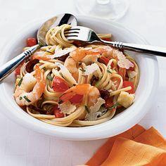 Shrimp and Brie Linguine - 60 Coastal Shrimp Recipes - Coastal Living