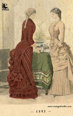 1882 Women's Fashion, Painting, Art, Art Background, Fashion Women, Womens Fashion, Painting Art, Kunst