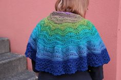 Ravelry: Peacock at the Beach Shawl pattern by Tanja Luescher