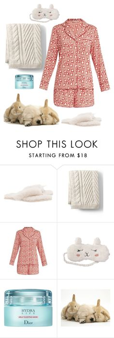 """""""All the snuggles"""" by christawallace on Polyvore featuring UGG, Lands' End, STELLA McCARTNEY, P.J. Salvage and Christian Dior"""