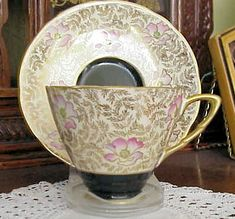 FABULOUS ART DECO  CHINTZ TEACUP and SAUCER  CHIC