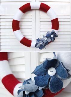 patriotic wreath +ideas