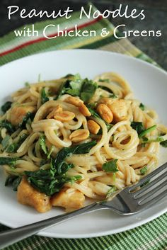 Peanut Noodles with Chicken & Greens (Gluten-Free & Low-Fructose) I seem to be reacting to nuts right now, but once I have been fructose free for 6 weeks, I will test nuts and see if I can tolerate them. This recipe is here in case I can!