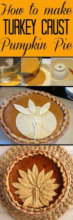 holiday treats This Adorable Turkey Crust Pumpkin Pie is easy to recreate and will amaze your family and friends this holiday season. Let me show you how easy it is to assemble, and bake this fun holiday treat. - Kudos Kitchen by Renee - Holiday Desserts, Holiday Baking, Holiday Treats, Fall Treats, Holiday Foods, Christmas Baking, Christmas Tree, Pumpkin Recipes, Fall Recipes