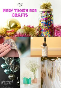 DIY New Year's Eve Craft Ideas using Goodwill items from MomAdvice.com.