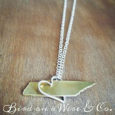 Tennessee in my Heart Necklace