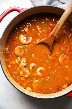 New Orleans Gumbo with Shrimp and Sausage New Orleans Gumbo, New Orleans Style Gumbo Recipe, New Orleans Jambalaya Recipe, New Orleans Party, Cajun Recipes, Seafood Recipes, Sausage Recipes, Seafood Dishes, Dinner Recipes