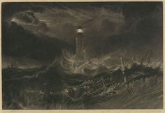 William Turner - Eddystone Lighthouse. 1824