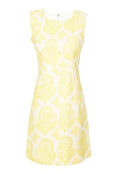 Diane von Furstenberg Sleeveless Floral Stamp Jacquard Capreena Dress