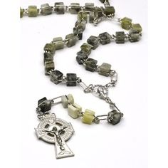 Genuine Connemara Marble Irish Rosary. Imported from Ireland. $59.95 #CatholicCompany