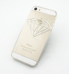 """Clear Plastic Case Cover for iPhone 6Plus (5.5"""""""") Henna Diamond shine bright jewelry supply brilliant carat fashion girly"""