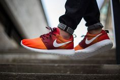 Nike Roshe Run Print-Team Orange-White-Bright Mandarin-Team Red-3