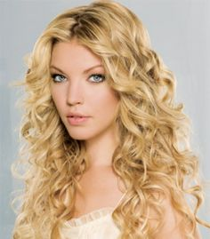 Long Curly Hairstyles For Round Faces 2013