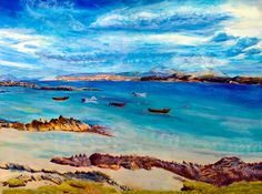 Mull from Iona printScottish Island by PaintingsGallery on Etsy Etsy Christmas, Christmas In July, Gifts For Wedding Party, Party Gifts, Scottish Islands, Coastal Wall Art, Beach Landscape, Etsy Uk, Art Photography