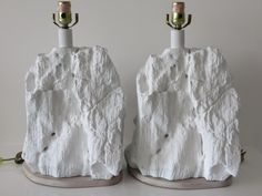 """Pair Of Vintage, Mid-Century Modern Plaster Lamps In The Manner Of """"Sirmos"""" by FLORIDAMODERN on Etsy"""
