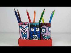 DIY Back2School Idea: Recycling Painted Paper Toilet Rolls into Pen Holders