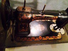 White Antique Sewing Machine $299
