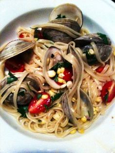 Pasta Clam Bake: Linguine with Clams, Tomatoes and Corn recipe on Food52.com