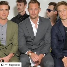 "(@alexskarsgardlove) on Instagram: ""#Repost @hugoboss (@get_repost) ・・・ On the front row at the BOSS Menswear show: @mattbomer,…"""