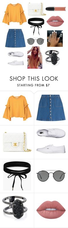 """baby your so classic..."" by brookeemcc on Polyvore featuring MANGO, HUGO, Chanel, Vans, Boohoo, Ray-Ban, Kendra Scott, Lime Crime and MAC Cosmetics"