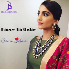 Wishing Bollywood's Fashion Icon ‪#‎SonamKapoor‬ a very Happy Birthday! Always keep killing it with your style! ‪#‎HappyBirthdaySonamkapoor‬ ‪#‎BlingStation‬ ‪#‎fashion‬ ‪#‎jewelry‬