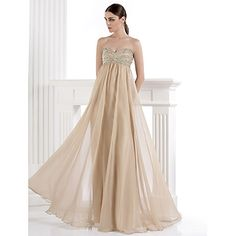 Formal+Evening+Dress+A-line+Sweetheart+Floor-length+Chiffon+/+Spandex+with+Beading+/+Crystal+Detailing+–+ILS+₪+479.56