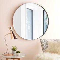 Miroir rond en métal cuivré D.90cm EMMY | Maisons du Monde