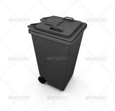 3D render of a wheelie bin