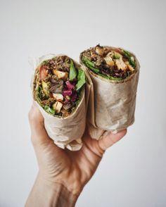 lherbemuse:  Quinoa Lentil Baked Tofu Wrap