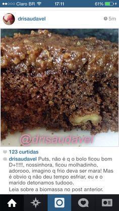 Foto - bolo de chocolate com biomassa de banana verde