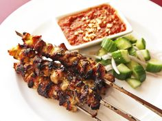 I recently tested a whole slew of skewers to find the best ones for grilling, and since then, this has been the summer of grilled-things-on-a-stick. And I'm not through poking-and-grilling yet. This time, it's sweet-and-savory Thai-style chicken satay with a tamarind-peanut dipping sauce. It's a staple dish of Thai restaurants in the US, but so, so much better if you make your own.