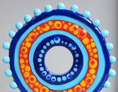 Fiesta WheelHandmade Lampwork Glass Beads by beadygirlbeads, $35.00