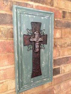 Salvaged Cabinet Door Upscaled To Adorable Cross
